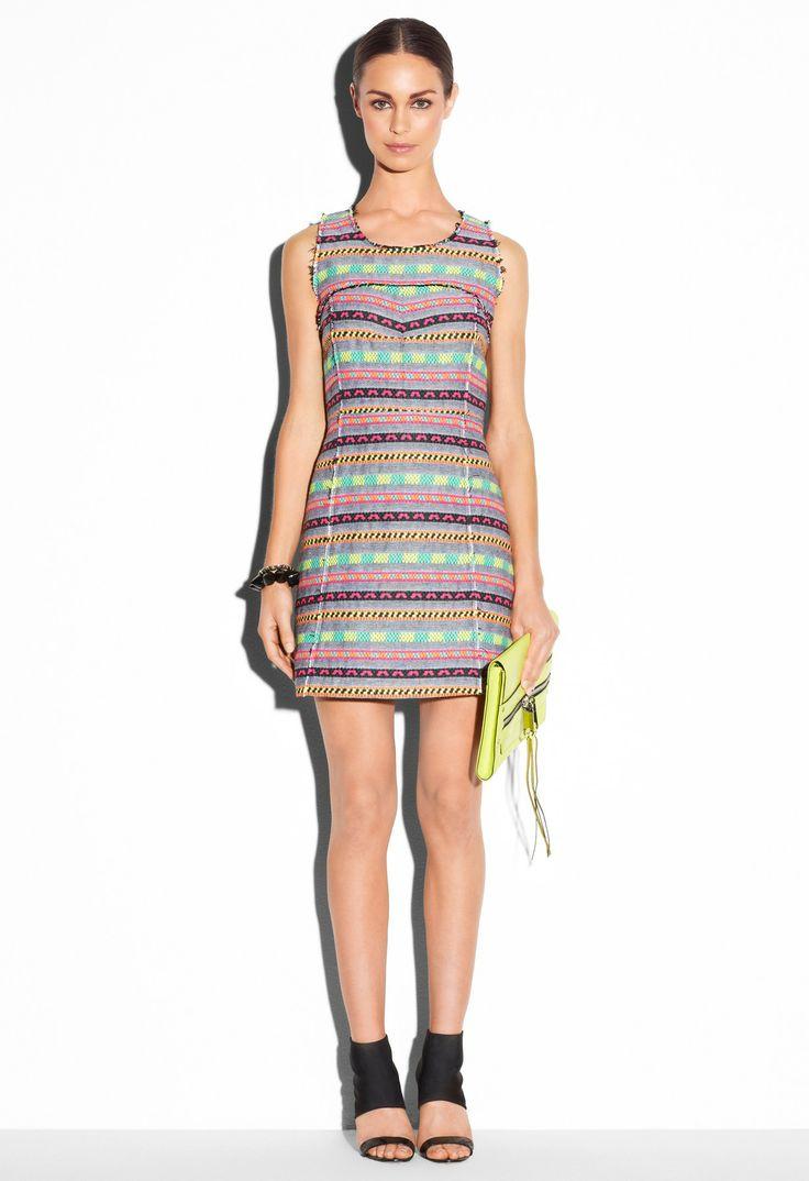 Milly Printed Mini  Dress ($395)