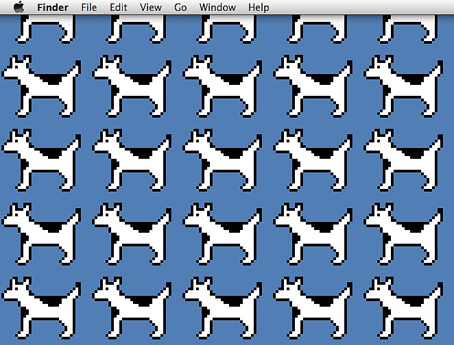 """The dogcow is an odd creature created and trademarked by Apple. The hybrid animal made several appearances in Apple applications, and the company even trademarked its signature noise, """"moof."""" Source: Flickr user SilverTD"""
