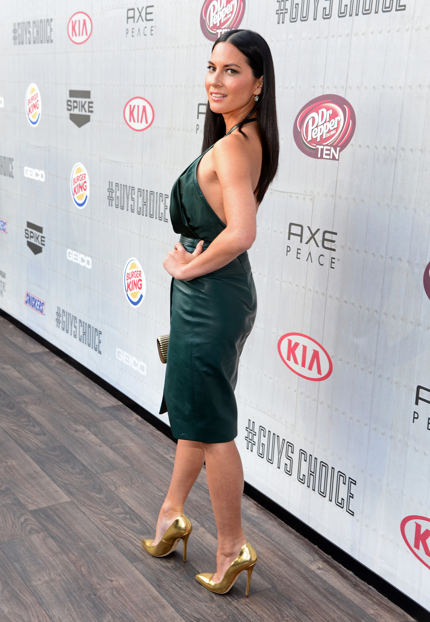 Olivia Munn's toned physique was front and center.