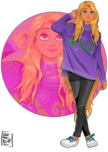 College Rapunzel