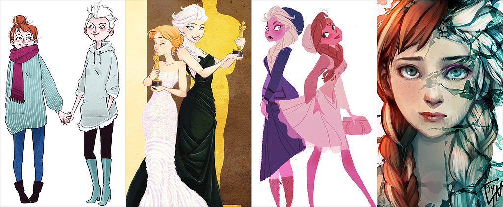 Frozen Princesses Elsa and Anna Get Artistic Makeovers
