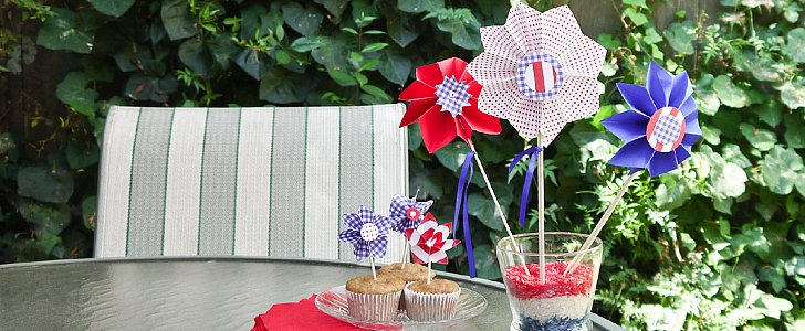 Celebrate With DIY Fourth of July Pinwheel Decorations