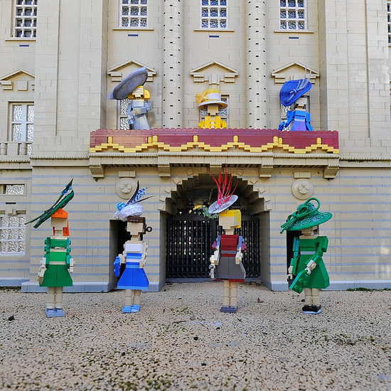 Royal Family Lego Figures Wearing Hats For Royal Ascot