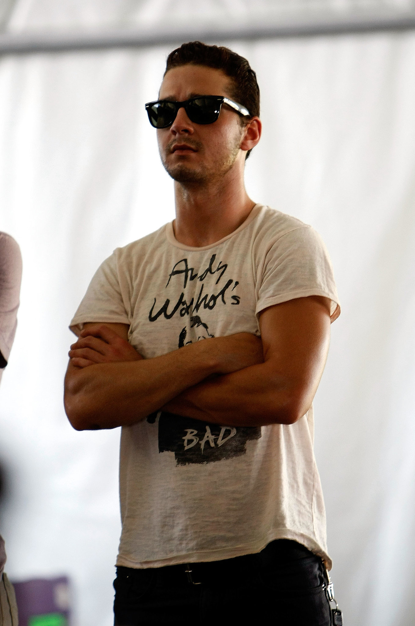 He looked hot in a pair of Ray-Bans while taking in a show at Coachella in April 2008.