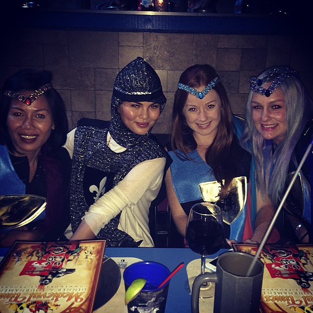 Chrissy Teigen had fun with friends at Medieval Times. Source: Instagram user chrissyteigen