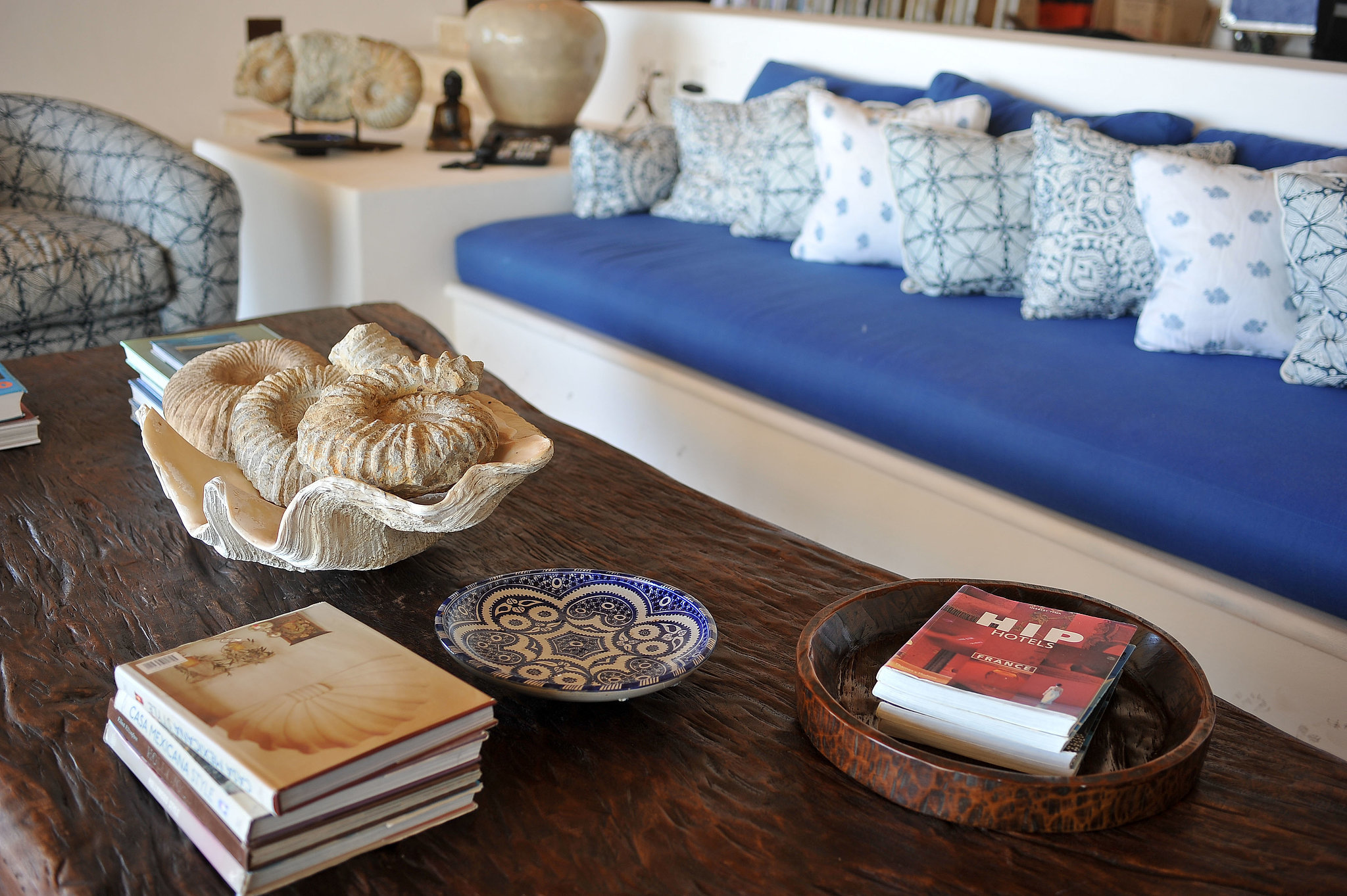 Of course, there's a perfectly styled coffee table!