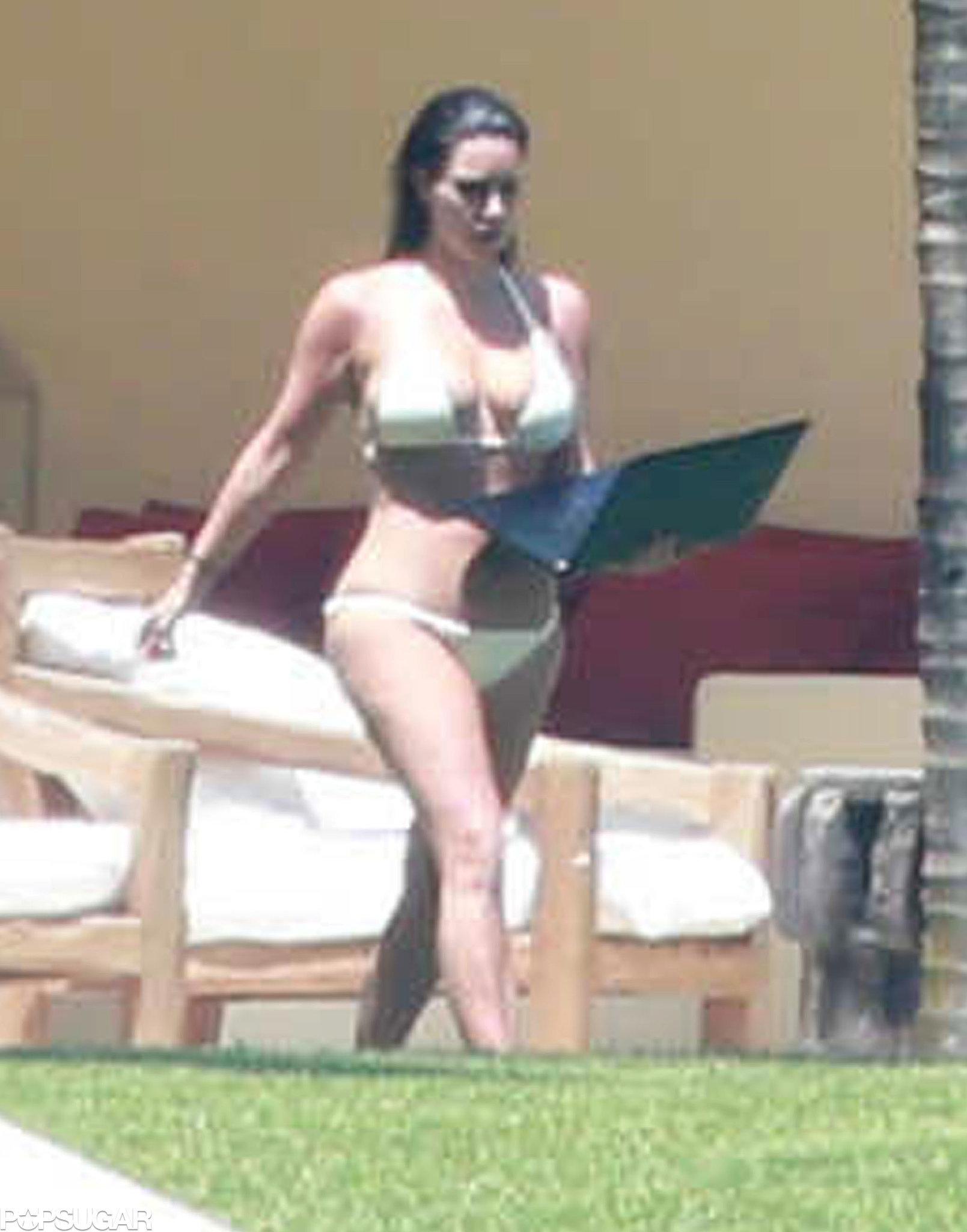 Kim and Kanye Hang Poolside on Their Second Honeymoon!