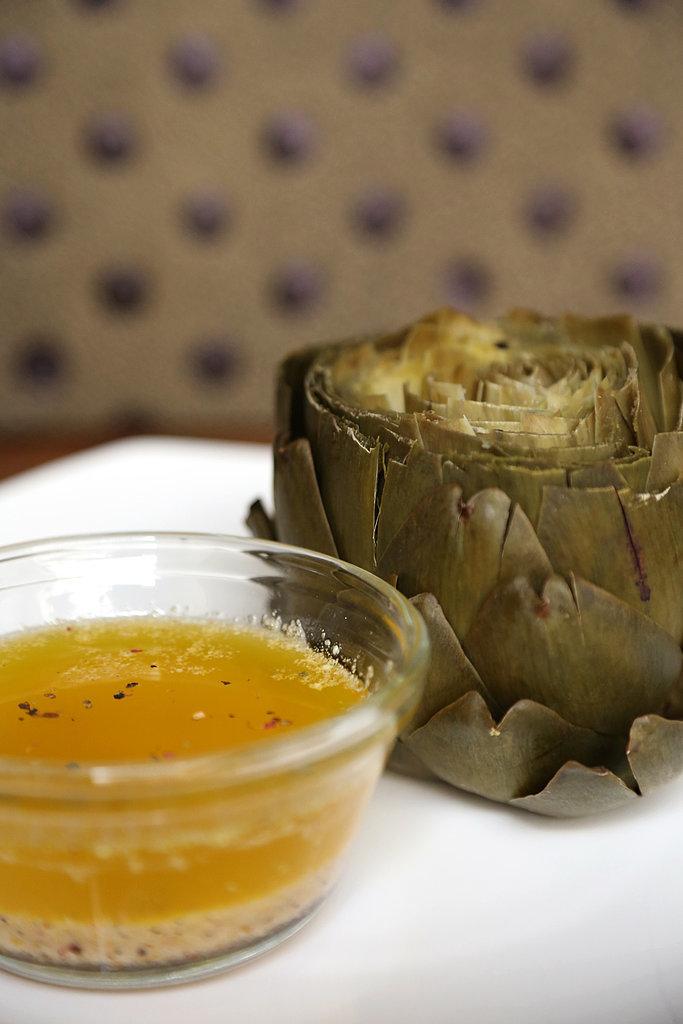 Steamed Artichokes With Lemon-Pepper Butter