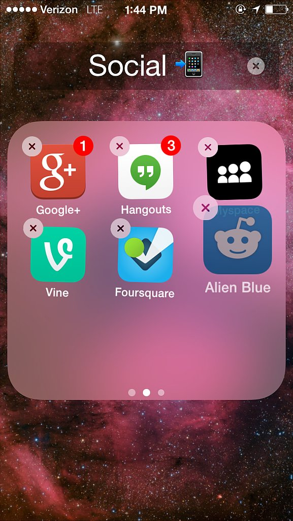 How do I put my apps into folders?