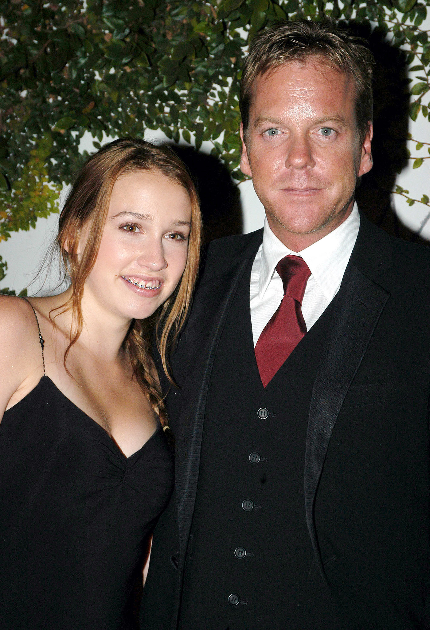 Kiefer Sutherland! The last name may give it away, but considering this is one of Sarah's first roles, her parentage hasn't come up much yet.