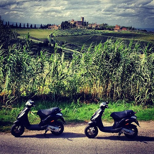 Ride a Vespa in Tuscany