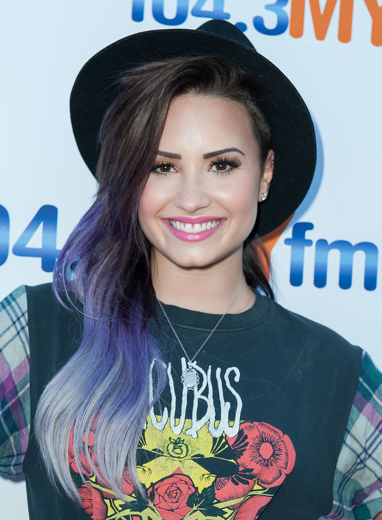 Demi Lovato Celebrity Hair Makeup Beauty June Kate Middleton Popsugar Australia