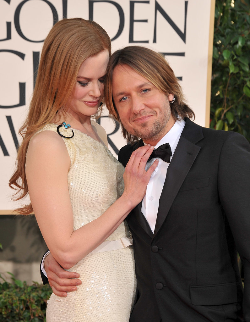 The duo got cute on the red carpet at the Golden Globes in January 2011.