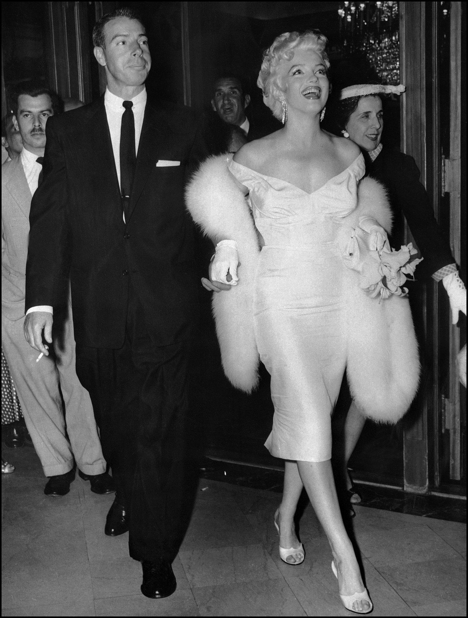 Marilyn Monroe With Joe DiMaggio in 1950