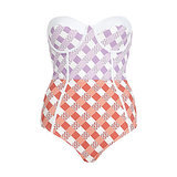 River Island Retro Gingham Strapless Swimsuit