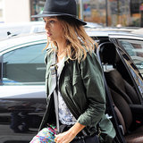 Jessica Alba Green Army Jacket Style | Video