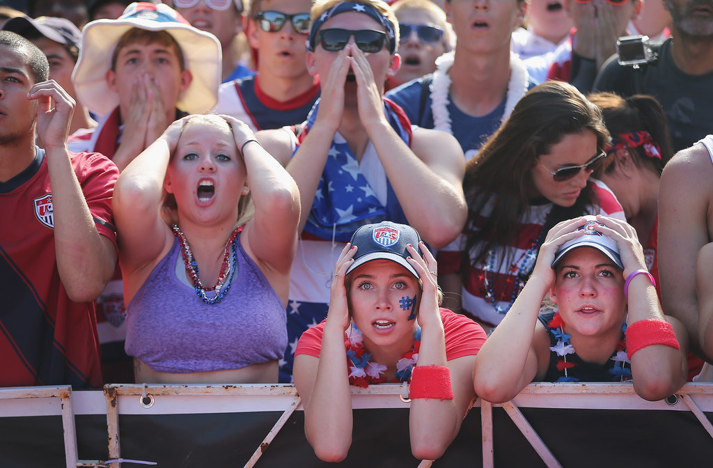 In Chicago, US fans were shocked by the team's tie with Portugal.