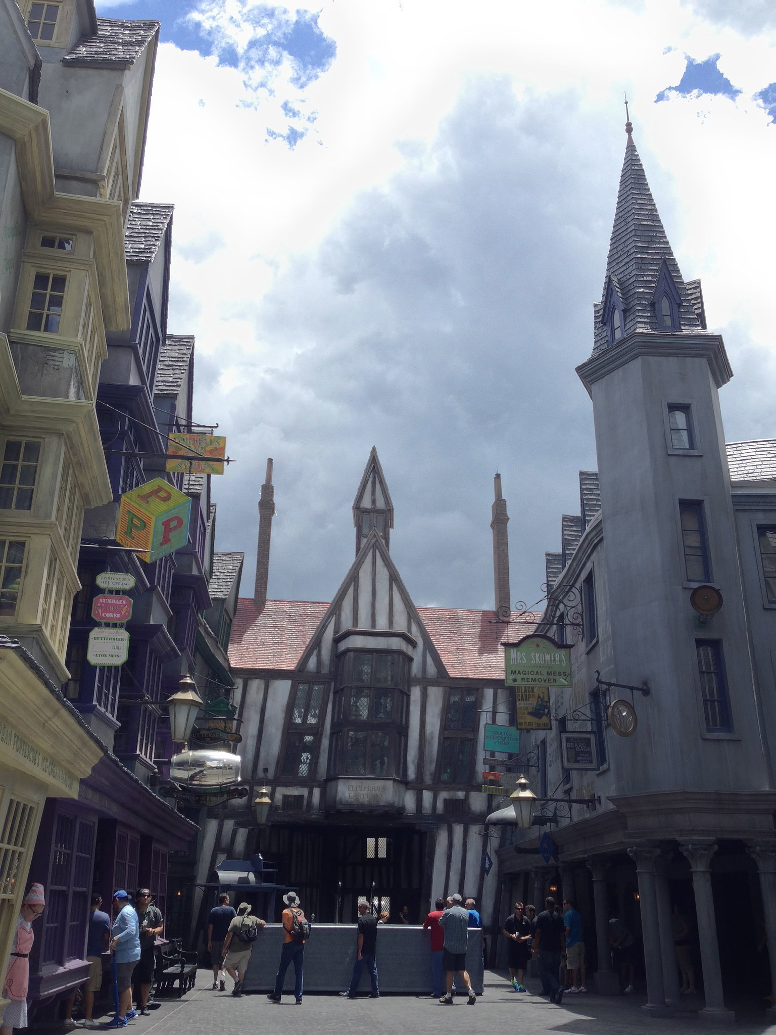 Check out a section of Diagon Alley.