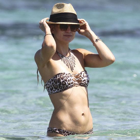 Kate Hudson in a Bikini With Matt Bellamy in Ibiza 2014