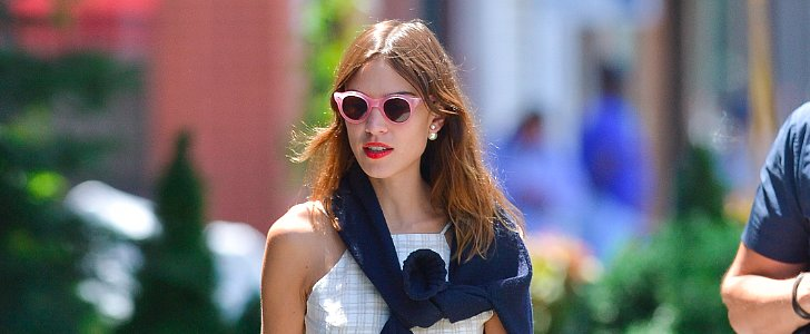 Alexa Chung Makes Her Warm Accessories Look Cool