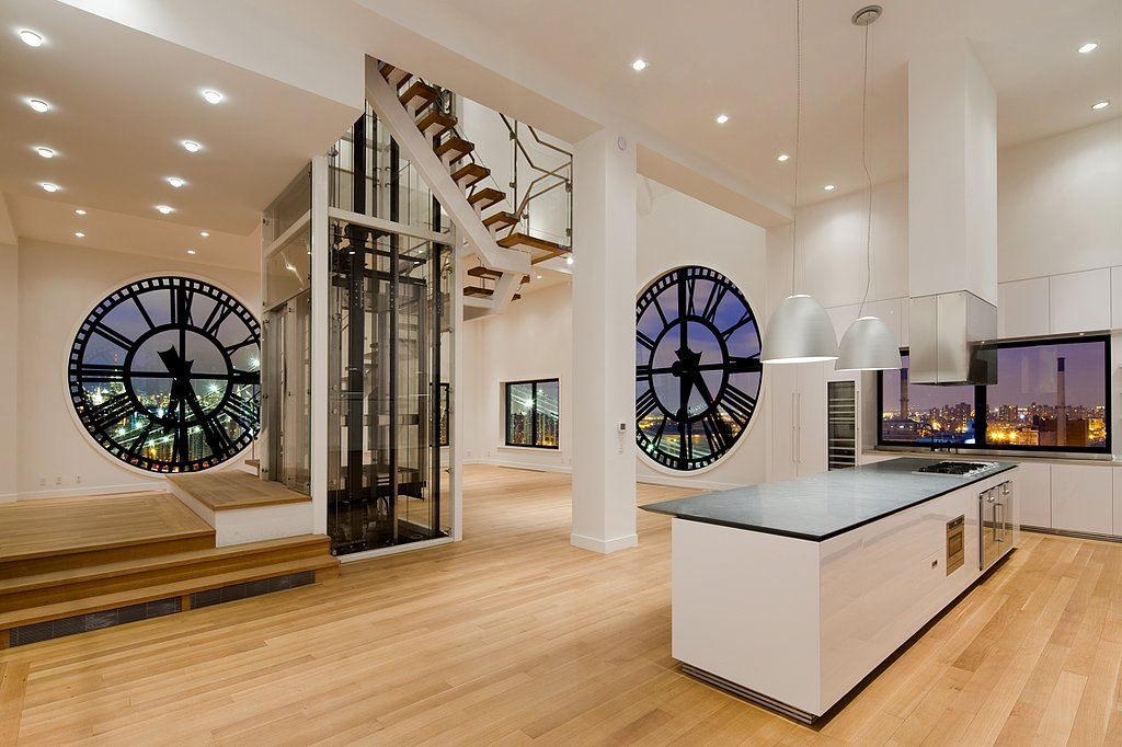With sweeping views of the New York City skyline, this clock-tower building apartment offers a unique perspective of the Big Apple. Source: TopTenRealEstateDeals