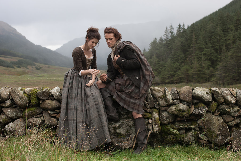 Claire and Jamie forge their life together in the Scottish countryside. Courtesy of Starz
