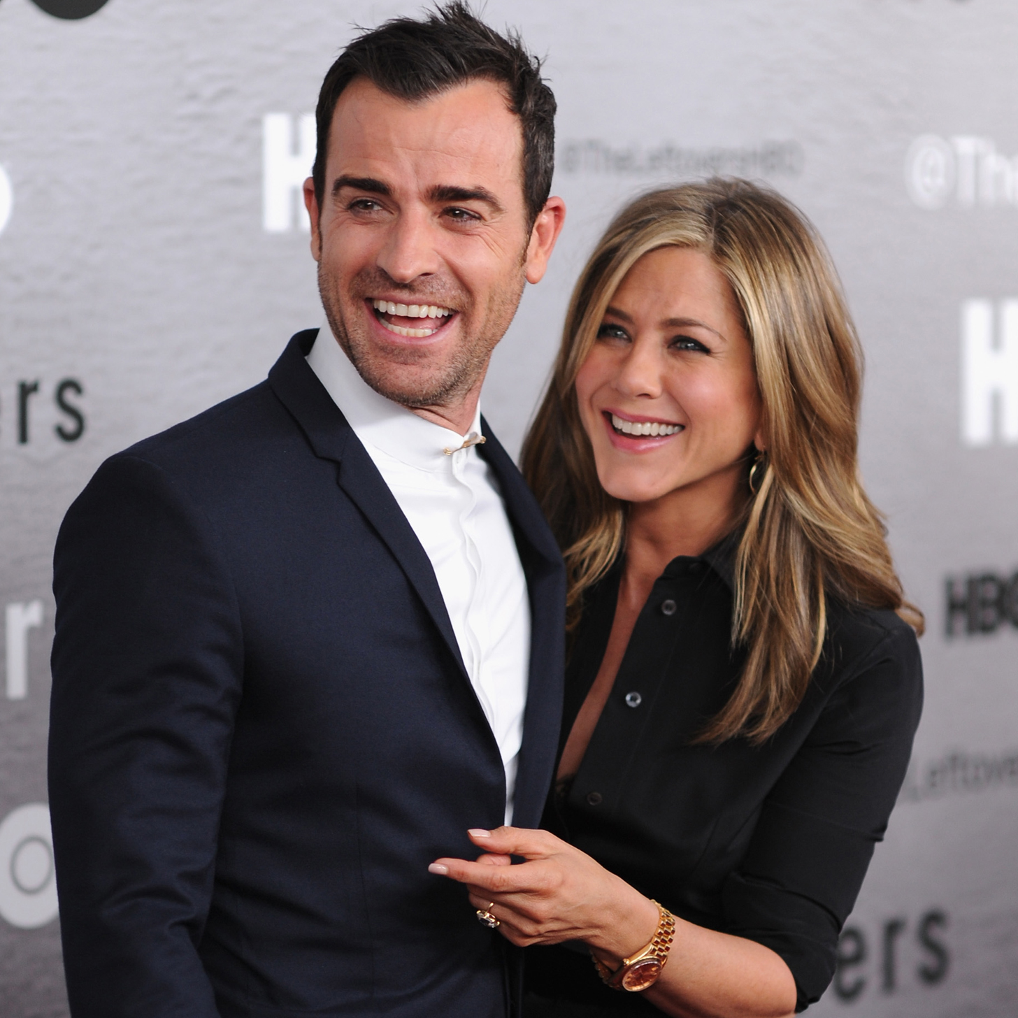 Justin Theroux with Wife