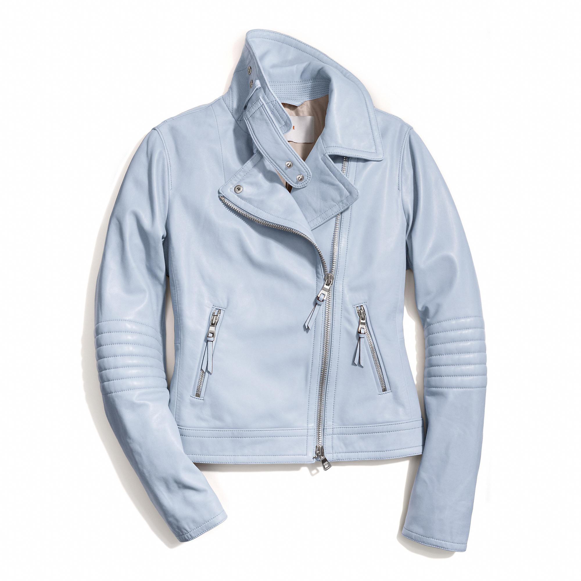 Coach Slim Leather Moto Jacket