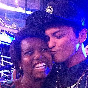 Bruno Mars Sings to Zumyah Thorpe   Video