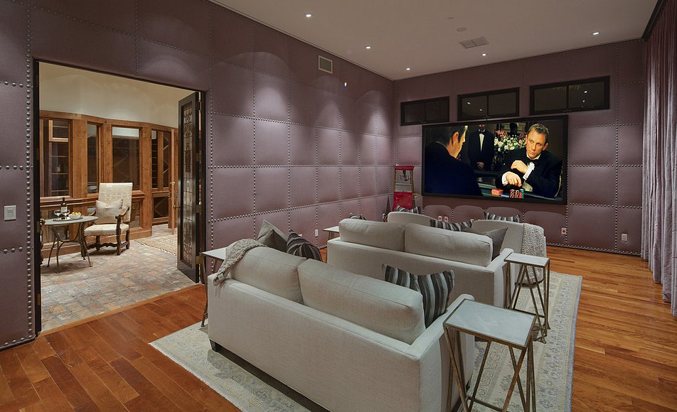 The private theater — perfect for movie night!  Source: Lynn Teschner