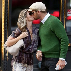 Gisele Bundchen and Tom Brady Kissing in NYC   Pictures
