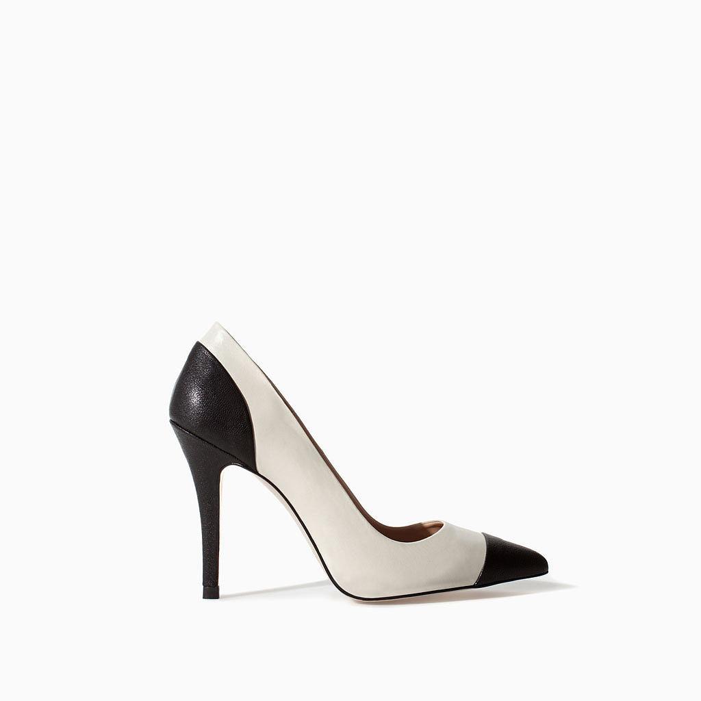 Zara Leather Two-Tone Heel