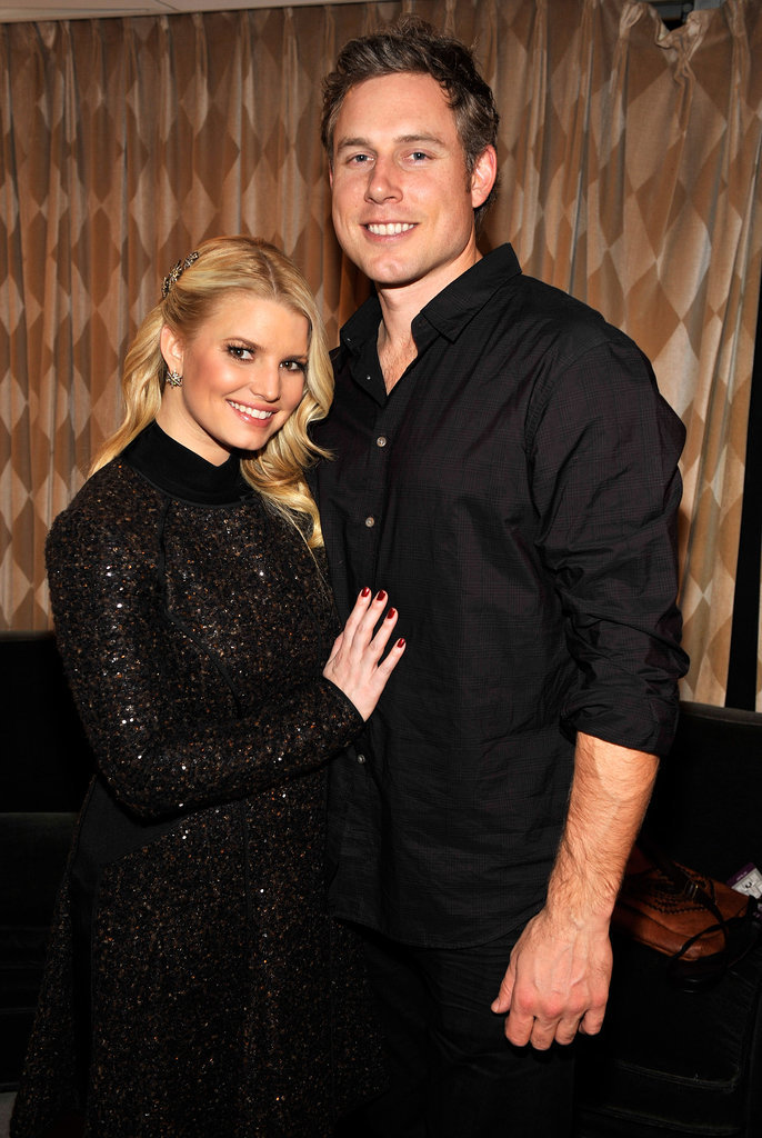 They stayed close at the November 2010 Rockefeller Center Christmas tree lighting ceremony in NYC.