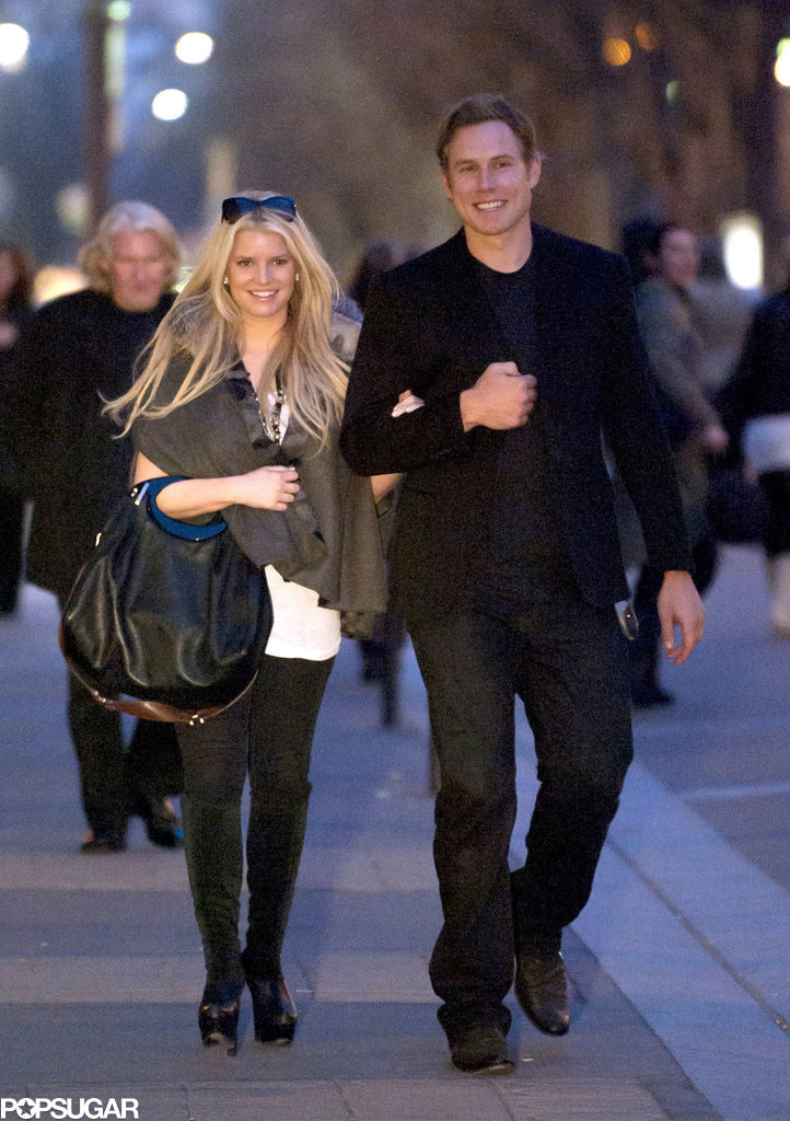 The couple strolled arm in arm down the Champs-Elysees while visiting Paris in March 2011.