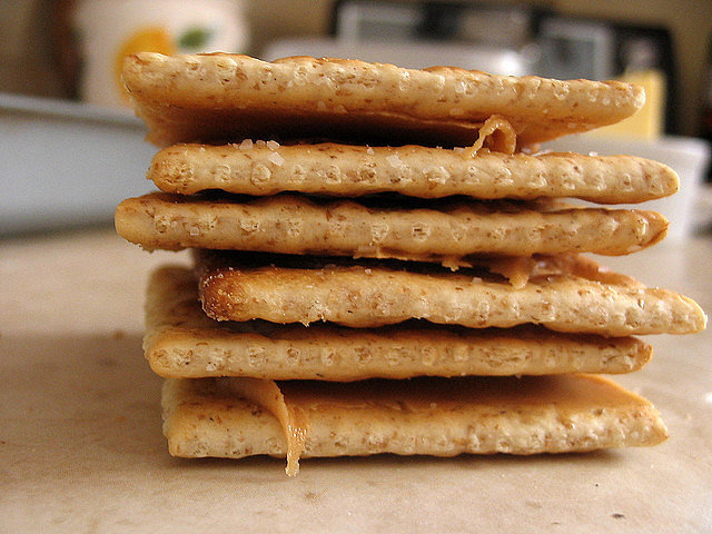 Saltines With Nut Butter