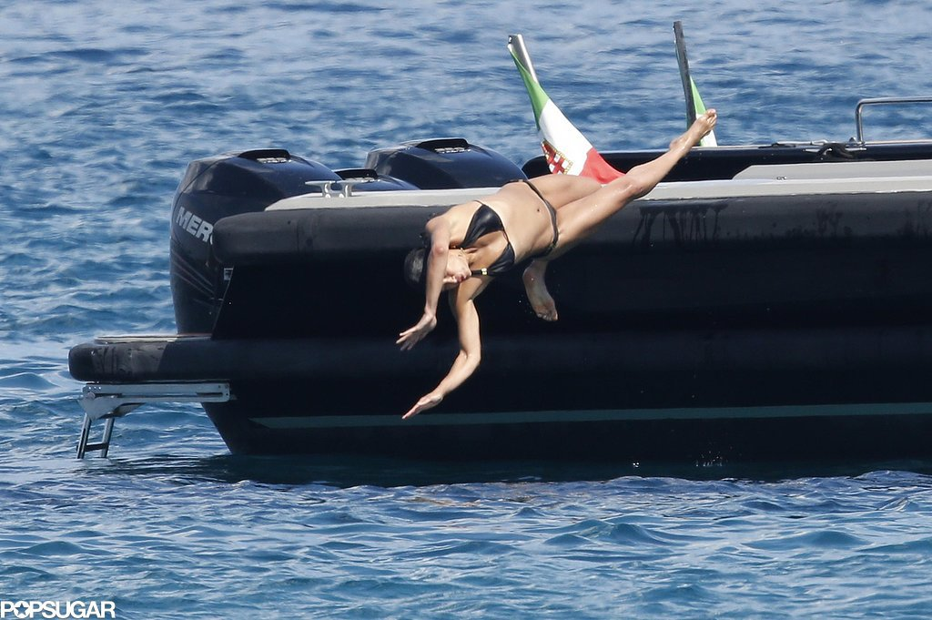 Then do some flips and jumps off of the boat.