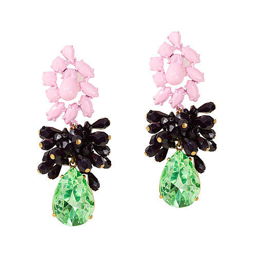 J.Crew Mixed Media Drop Earrings