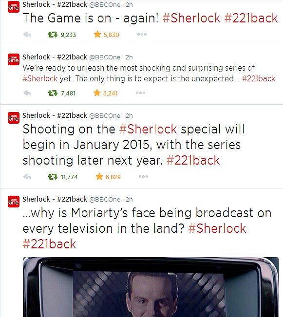 The BBC had some evil fun with the Sherlock announcement. Source: Tumblr user supernaturally-marvelous