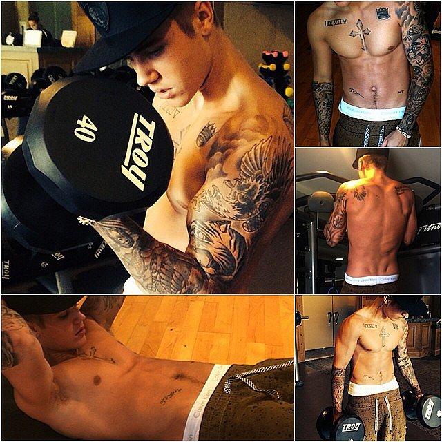 Justin Bieber showed us how he works out. Source: Instagram user justinbieber