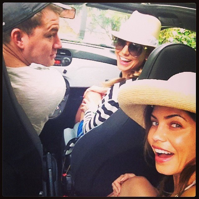 Stacy Keibler's throwback picture shows how Channing Tatum and his wife, Jenna Dewan, weather a storm. Source: Instagram user stacykeibler
