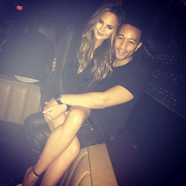 Chrissy Teigen and John Legend got cozy. Source: Instagram user chrissyteigen