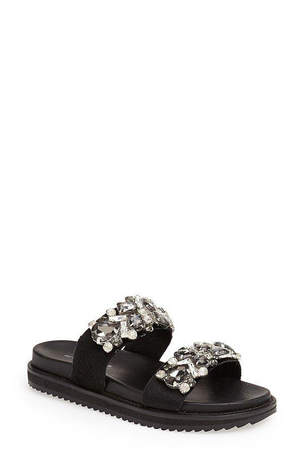 Kurt Geiger Embellished Slide Sandals