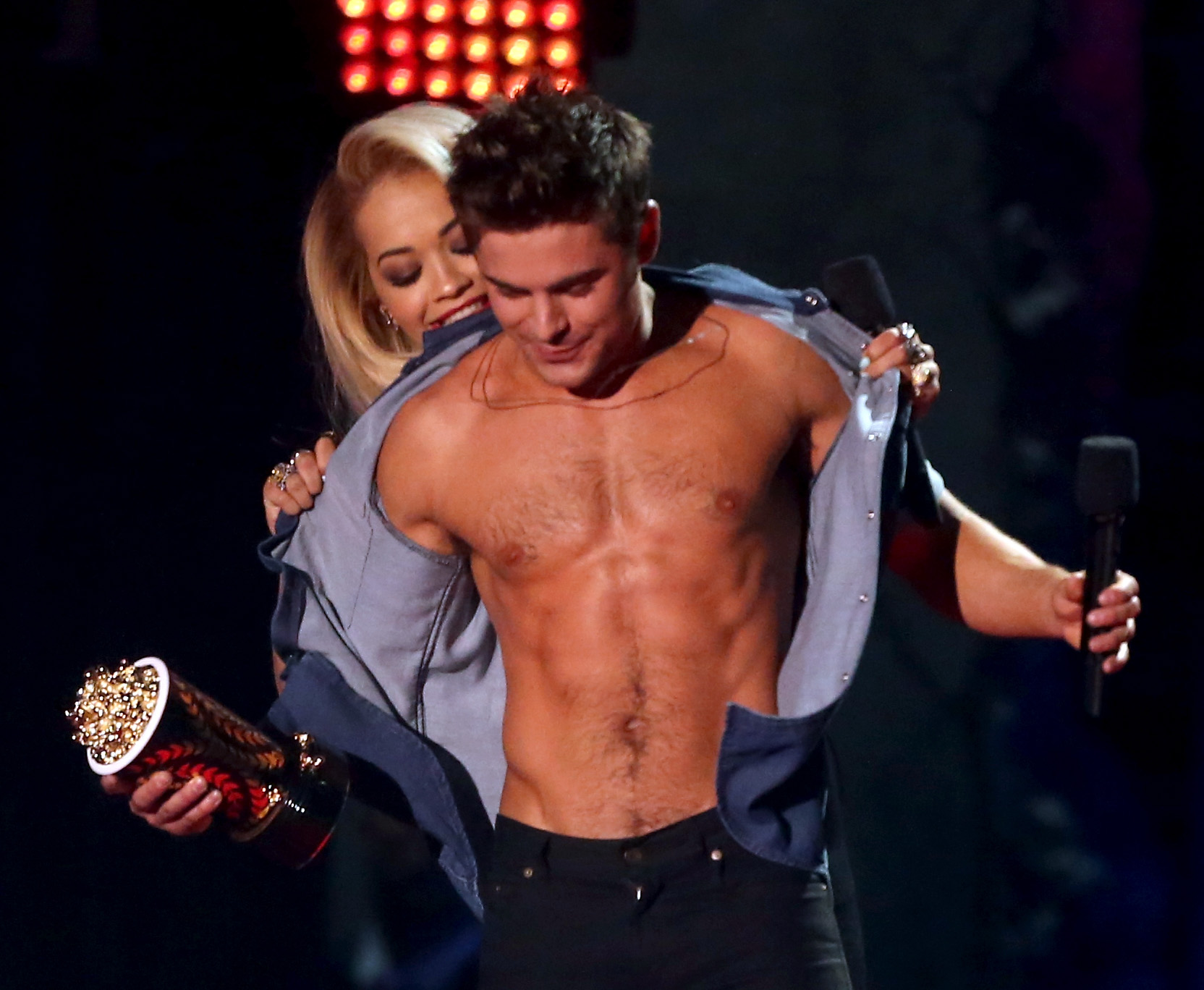 By 2014, his abs and pecs (and everything else, for that matter) were sculpted for prime time. We'll never forget when his shirt came off at the 2014 MTV Movie Awards.