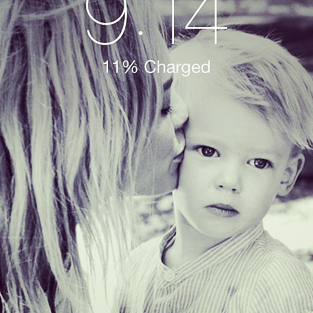 Hilary Duff changed the photo on her iPhone to one from a recent shoot with Luca Comrie. Source: Instagram user hilaryduff