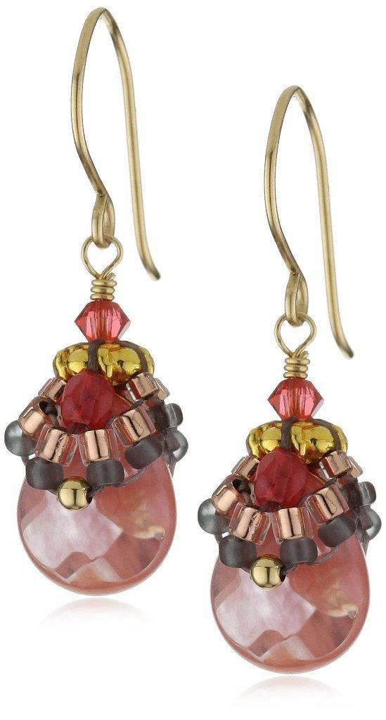 Miguel Ases Raspberry Quartz Earrings