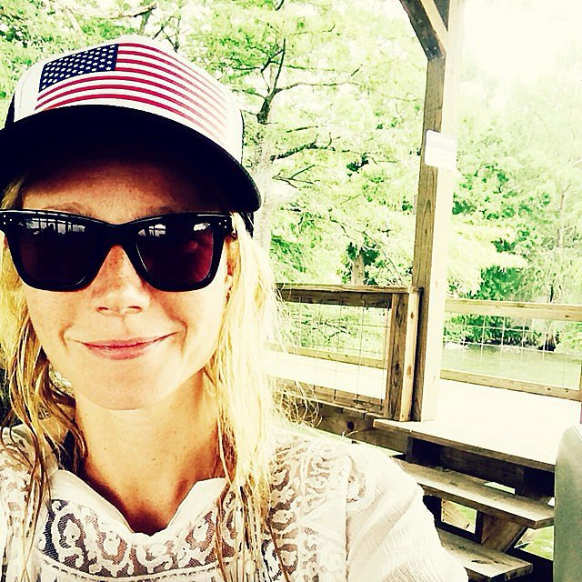 Gwyneth Paltrow showed her American pride in this makeup-free snap. Source: Instagram user gwynethpaltrow