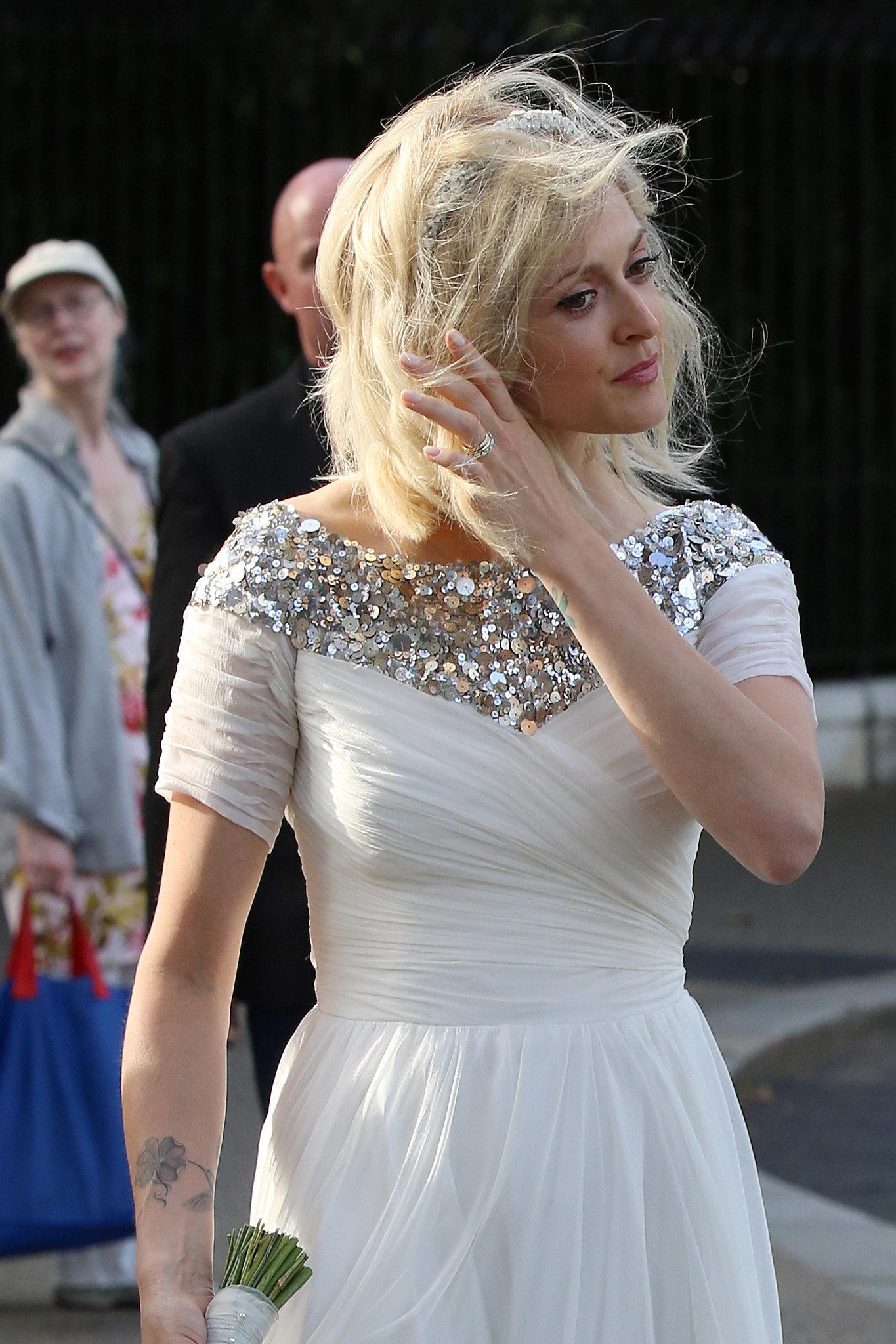 Fearne Cotton wears a sparkling wedding dress to marry Jesse Wood