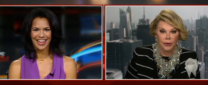 """Joan Rivers Tells a CNN Anchor to """"Shut Up"""" Before Walking Out on Her Interview"""