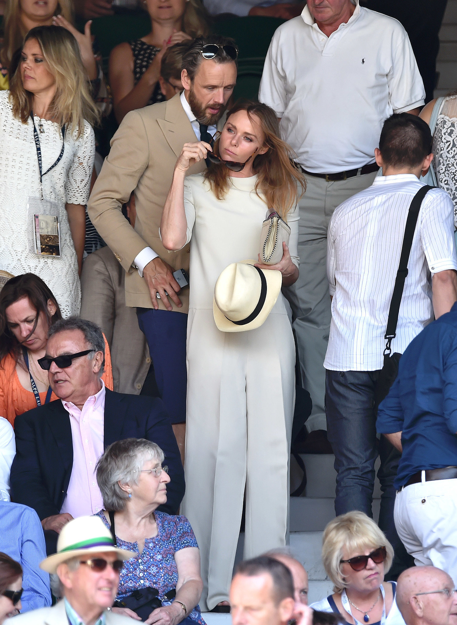 Stella McCartney and husband Alasdhair Willis turned one match into a date.