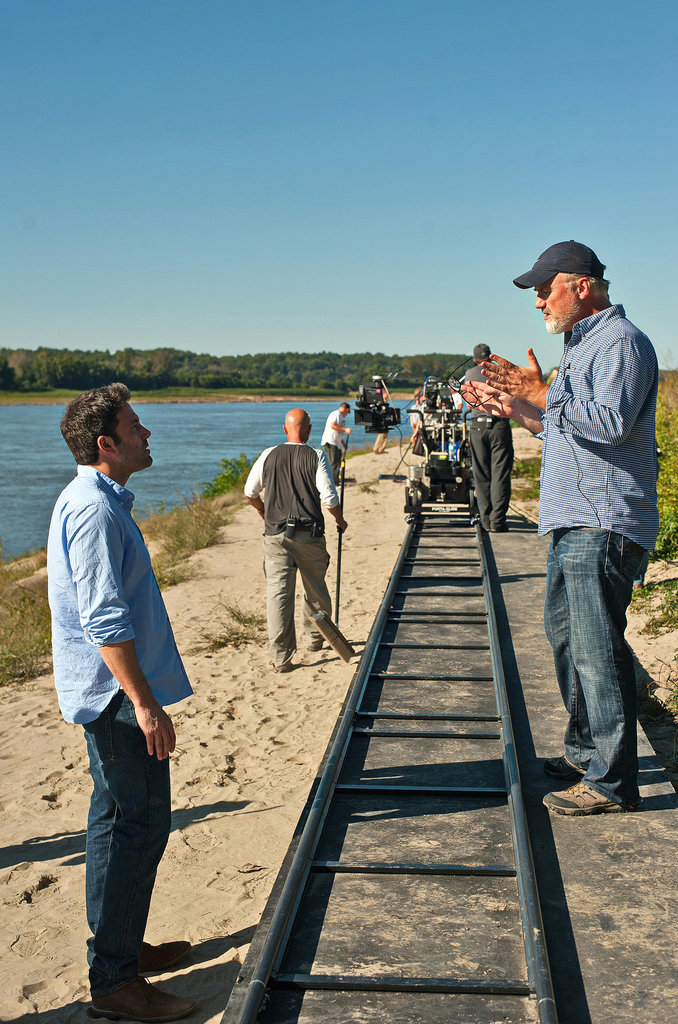 Director David Fincher gave Affleck direction on the Missouri set.
